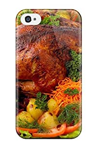 AnnDavidson Snap On Hard Case Cover Food Chicken Protector For Iphone 4/4s