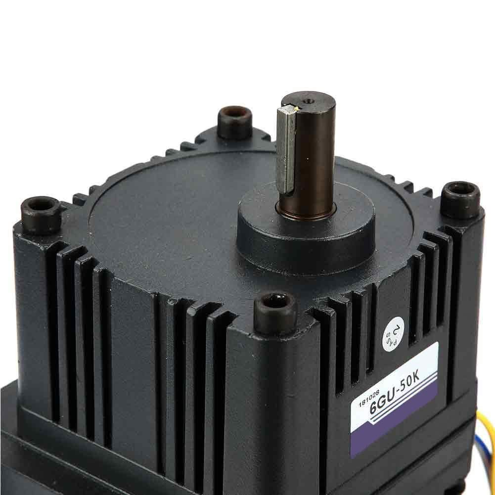 Reduction Ratio 50k Reduction Motor with Gearbox Governor,220V 200W M6200-502 CW//CCW Reduction Motor with Gearbox Governor AC