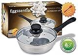Kitchen & Housewares : PremiumWares- Eggssentials Poached Egg Maker - Nonstick 2 Egg Poaching Cups - Stainless Steel Egg Pan FDA Certified Food Grade Safe PFOA free