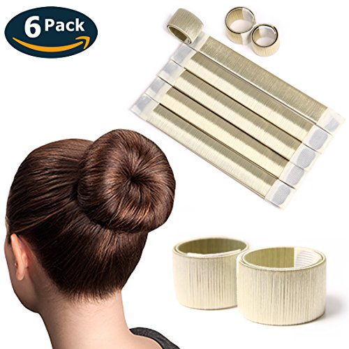 Eliace 6 PCS French Bun Tail Hair Buns Maker Magic DIY Hair Bun Making Styling French Twist Donut Bun Hairstyle Tool For Women Girls (Beige) by CICI Beauty