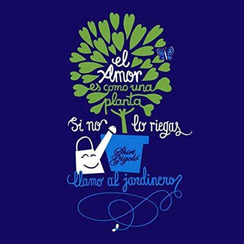 Rei Zentolo Jardinero - Camiseta regular para mujer, color azul marino, talla S