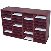 Norsons Industries 36 Compartment Laminate Literature Organizer, 40.5 by 28 by 12-Inch, Mahogany