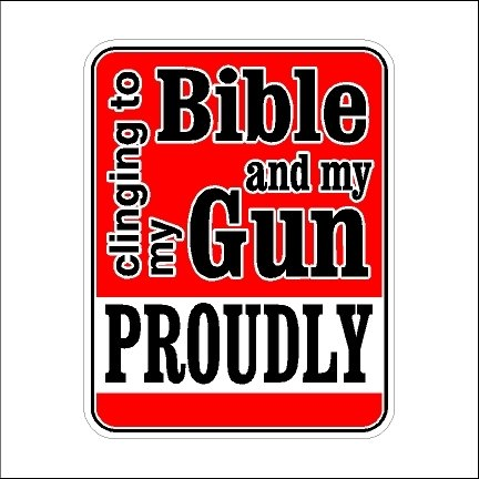 Clinging To My Bible And My Gun Second Amendment Car Decal 2nd Amendment Sticker Laptop Decal (5