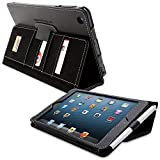 iPad Mini 1 and Mini 2 Case, Snugg Executive Black Leather Smart Case Cover [Lifetime Guarantee] Apple iPad Mini 1 and Mini 2 Protective Flip Stand Cover With Auto Wake/Sleep