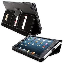 iPad Mini 1 and Mini 2 Case, Snugg Executive Black Leather Smart Case Cover [Lifetime Guarantee] Apple iPad Mini 1 and Mini 2 Protective Flip Stand Cover With Auto Wake/Sleep
