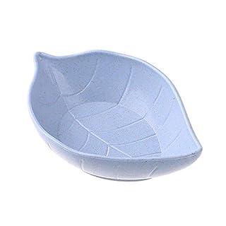 Depory Creative - Plato para condimentar con forma de hoja de trigo, color azul