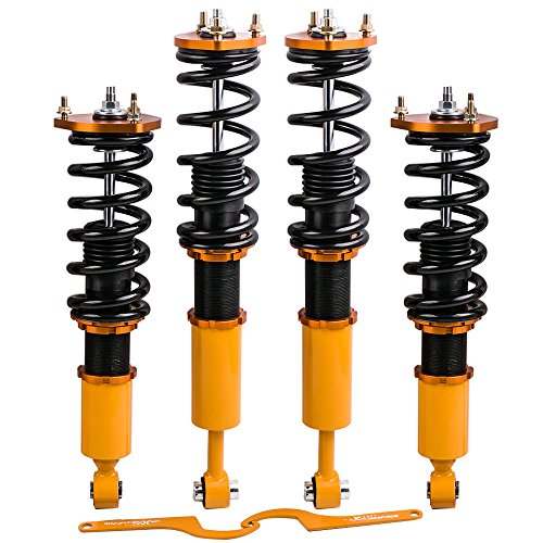 Adj. Height Coilovers Shocks for Lexus IS200/IS 300/IS300 2001-2005 Suspensions Coil Springs Struts - Golden