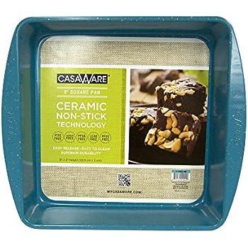 casaWare Ceramic Coated NonStick 9in Square Cake Pan (Blue Granite)