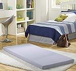 Simmons beautysleep Siesta 7,6cm colchón de Espuma con Efecto Memoria: Cama/Floor Mat Enrollable, Individual