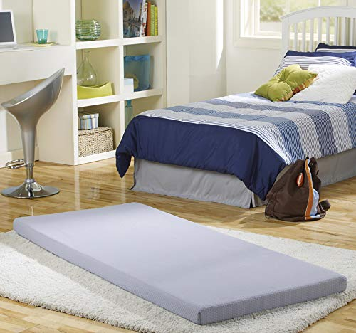 - Simmons BeautySleep Siesta Memory Foam Mattress: Roll-Up Guest Bed/Floor Mat, 3