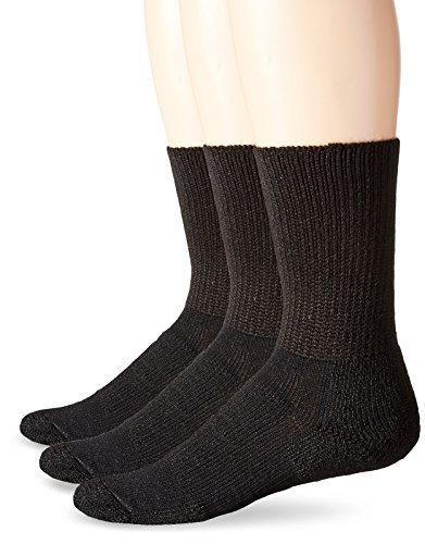 - Thorlos Unisex WX Walking Thick Padded Crew Sock, Black (3 Pack), XLarge