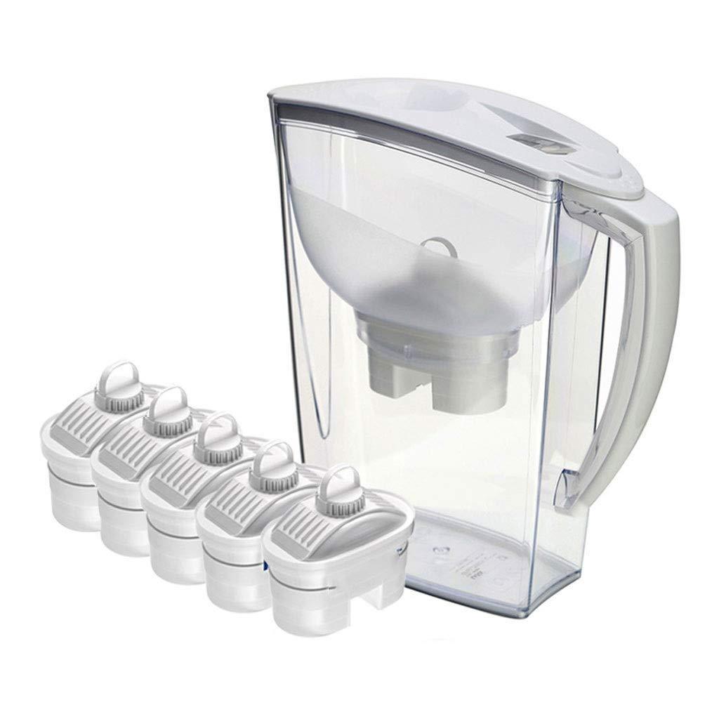 Filtro Depuratore di acqua Bollitore netto per la casa Filtro per bibite dritto 3.1L, un totale di cinque cartucce filtranti (colore : Bianca) Prezzi