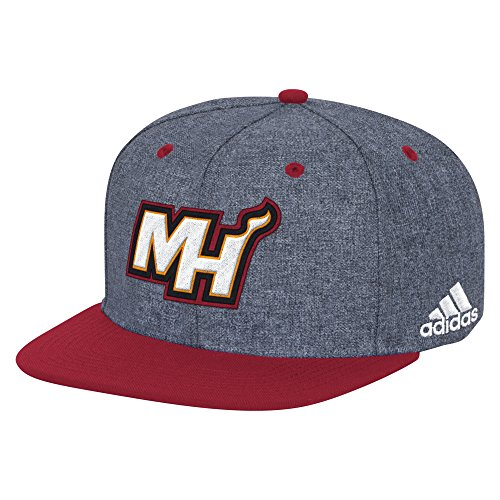 NBA Miami Heat Men's Fanwear Flat Brim Snapback Cap, One Size, (Miami Heat Cap)