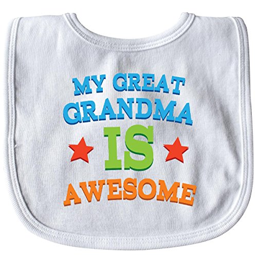 (Inktastic - My Great Grandma Is Awesome Baby Bib White 1a12a)