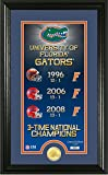 NCAA Florida Gators Legacy Supreme Minted Coin Panoramic Photo Mint, 24'' x 16'' x 4'', Bronze