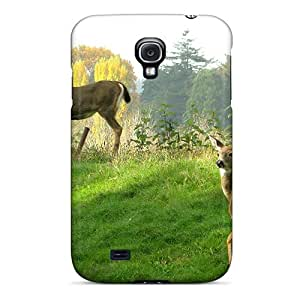 Awesome Design Female Blacktail Deers Hard Case Cover For Galaxy S4