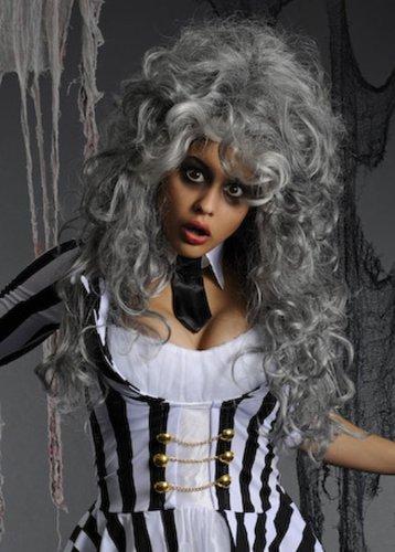 Deluxe Womens Grey Beetlejuice Wig (Beetlejuice Wigs)