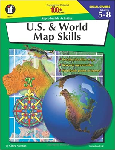 The 100 Map Of Earth.Amazon Com U S And World Map Skills 100 Series 9780880128124