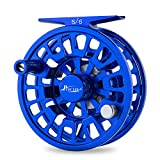 Piscifun Blaze Mid Arbor Fly Fishing Reel with CNC-machined Aluminum Alloy Body 3/4 Sapphire Blue