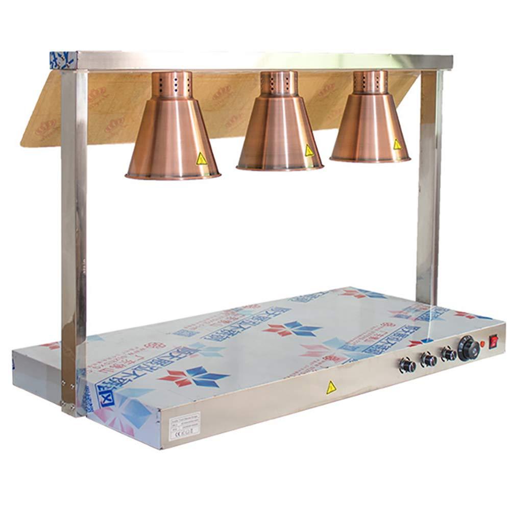 FK MGL Three-Head Food Insulation Lamp Holder Buffet Food Insulation Table Lamp Food Insulation Lamp Warm Lamp Pizza Lamp by FK MGL