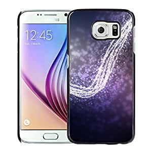 New Beautiful Custom Designed Cover Case For Samsung Galaxy S6 With Purple Light Bokeh Phone Case