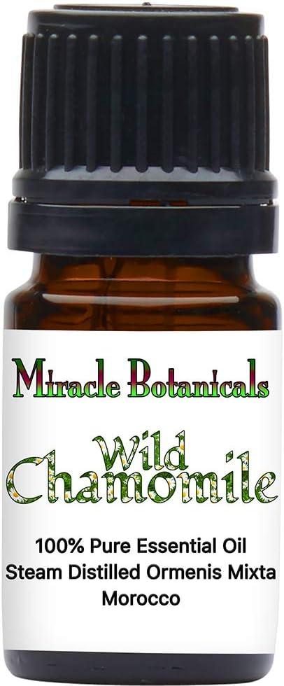 Miracle Botanicals Wild Chamomile Essential Oil - 100% Pure Ormenis Mixta - Therapeutic Grade - 5ml