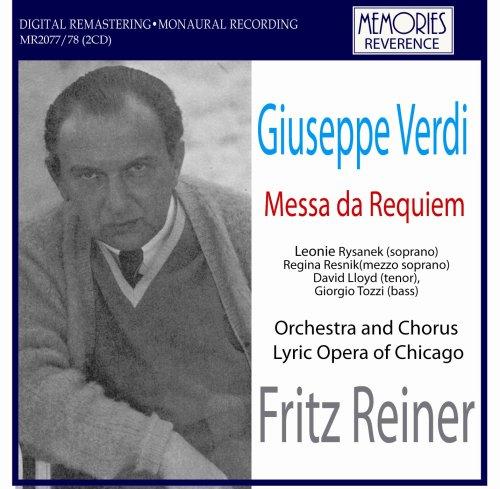 Verdi Requiem. (Leonie Rysanek Soprano. Regina Resnik Mezzo-Soprano. David Lloyd Tenor. Gio by MEMORIES (Image #1)