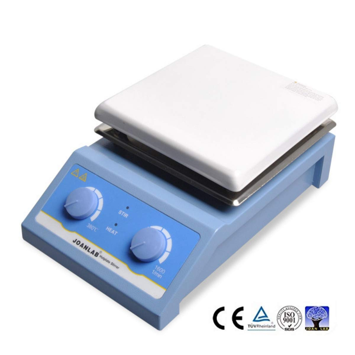 JoanLab SH-4 Magnetic Stirrer Hot Plate | 380°C Ceramic Hotplate | 5L Large Capacity | 0-1600 RPM Mixing Speed | for Laboratory Heating and Stirring | 1 Year Warranty