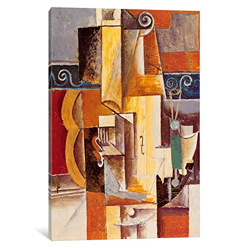 """iCanvasART 329-1PC6-26x18 iCanvas Violin and Guitar Print by Pablo Picasso 18"""" x 1.5"""" x 26"""""""