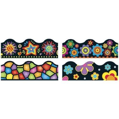 BBS Bulletin Board Sets Terrific Trimmers: Brights On Black Variety Pack; no. T-92919