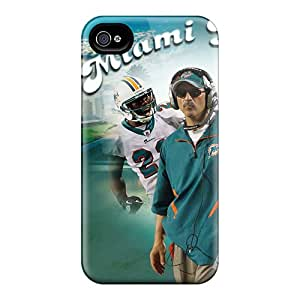 CharlesPoirier Iphone 4/4s Protective Hard Phone Cover Unique Design Lifelike Miami Dolphins Pictures [OEm11883KNTK]