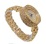 Thick is Beautiful! Iced Out Gold Ladies Watch - L0489L Gold