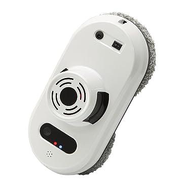 Domybest Robot Limpiacristales Automático Vidrio de Ventana Antidesgaste, 3 Modo de Limpieza con Control Remoto (Blanco)