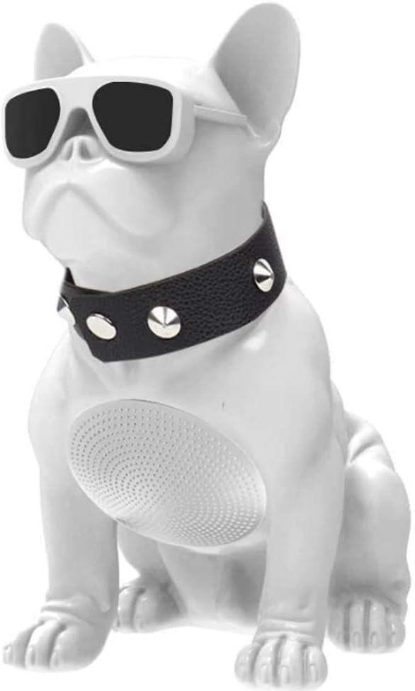 Altavoz Bluetooth inalámbricoM10 Bulldog Blanco Portatil Estereo Audio HD Exterior Controlador Integrado FM Radio USB TF Card