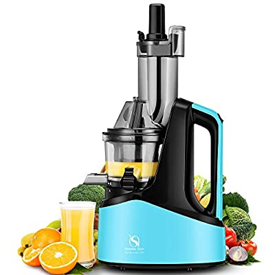 "Natalie Styx New Generation Wide Chute Anti-Oxidation Slow Masticating Juicer (240W AC Motor, 60 RPMs, 3"" Inches Big Mouth) - Vertical Masticating Cold Press Juicer by Natalie Styx"