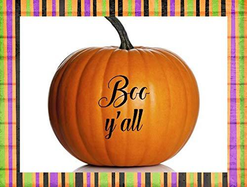 Moira Pumpkin Decal Boo Yall Decal Pumpkin Decorating Fall Porch Decor Halloween Porch Decorations Pumpkin Stickers Boo Yall Sign]()
