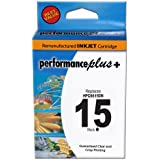 Performance Plus Remanufactured Ink Cartridge Replacement for HP C6615DN #15 ( Black )