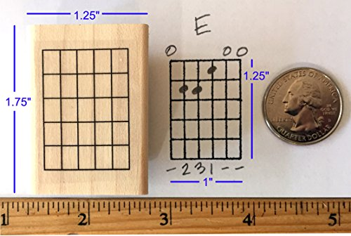 (Stampola Guitar Chord Stamp (Large) - 5 Fret)