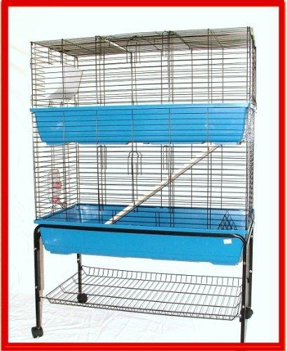 Felix - Gran jaula de dos pisos para interior, con soporte, para ...