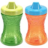 Gerber Graduates Fun Grips Hard Spout Sippy Cup in Green/Orange, 10-Ounce, 2 cups