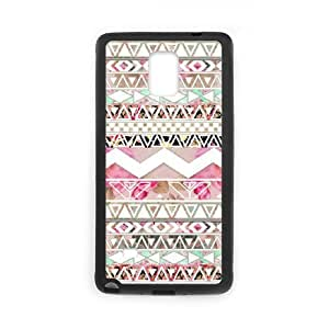 Diy Aztec Tribal Phone Case for samsung galaxy note 4 Black Shell Phone JFLIFE(TM) [Pattern-1]