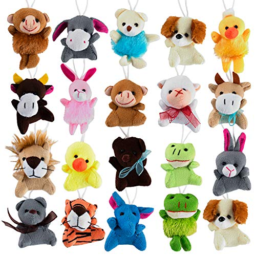 (Mini Cute Plush Animals for Children, Shows, Playtime, Schools - 20 Animals Set (20 Pack Mini Plush)