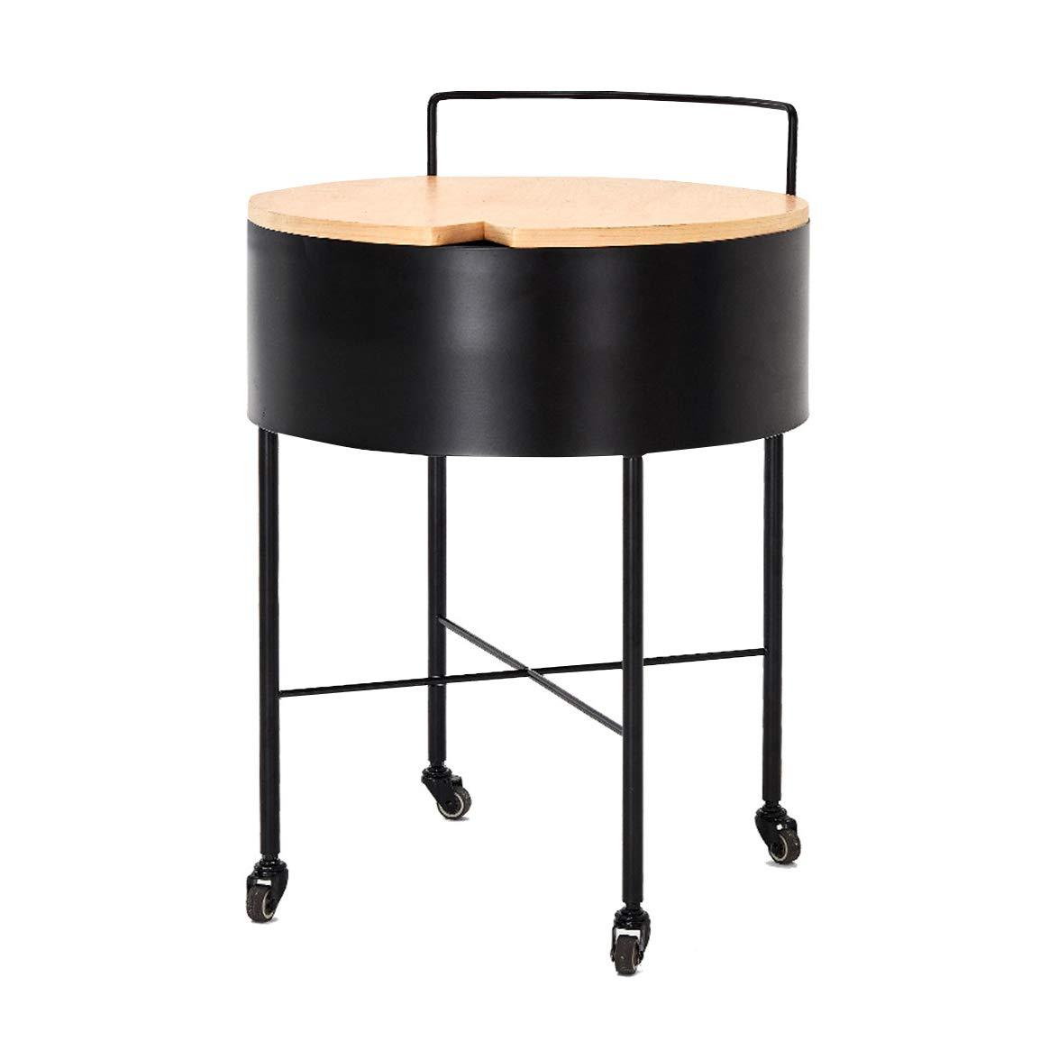 コーヒーテーブル アイアンアートテーブル、ホイールデザインそれは移動することができます便利収納ソファサイドレジャーテーブル多機能家庭用レストランの装飾コーヒーテーブル 小さなコーヒーテーブル (サイズ さいず : 40*40*56.7cm) B07P9JNBWR  40*40*56.7cm