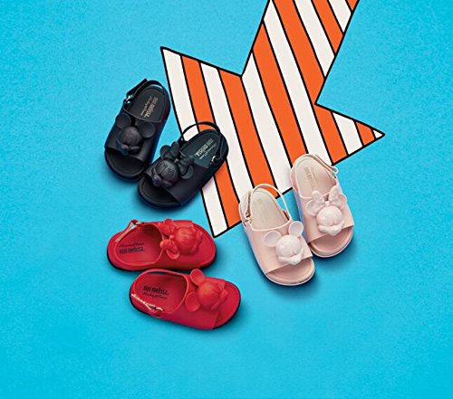 Melissa Mini Disney Strand Rutsche Kunststoff Slingback Sandale Blush Pink