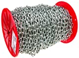 Campbell 0720427 Low Carbon Steel Inco Double Loop Chain on Reel, Zinc plated, #4 Trade, 0.07'' Diameter, 500' Length, 70 lbs Load Capacity