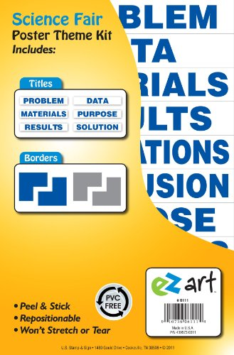 Headline Sign 6111 EZ Art Science Fair Theme Kit for Create-Your-Own Posters (Board Fair Science)