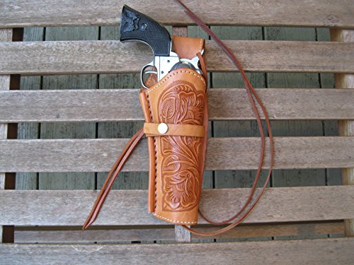 Western Gun Holster - Natural Color - Right Handed - for .22 Caliber single action revolver - Size 6