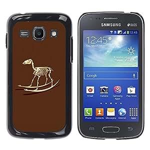 YiPhone /// Prima de resorte delgada de la cubierta del caso de Shell Armor - Skeleton Rocking Toy Horse - Samsung Galaxy Ace 3 GT-S7270 GT-S7275 GT-S7272