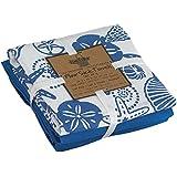 Kay Dee Designs A8357 Blue Shells Flour Sack Towels (Set of 3)