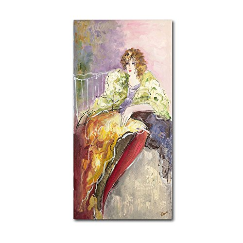 picture of Trademark Fine Art Yellow Jacket by Rosario Tapia Wall Decor, 12 by 24-Inch